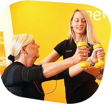 EMS_Training mit Hanteln
